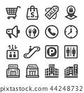 shopping mall icon 44248732