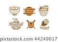 棒球 运动 徽章 44249017