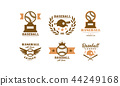 棒球 运动 徽章 44249168