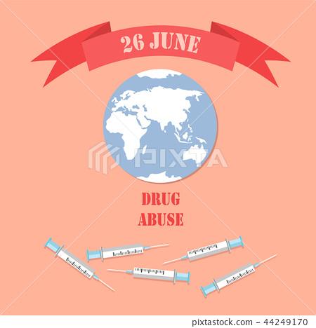 26 June Drug Abuse Poster with Empty Syringe World 44249170