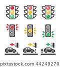 traffic light icon 44249270