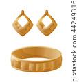 Bracelet and Earrings Set Vector Illustration 44249316