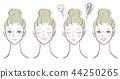 矢量图材料女性面部集 44250265