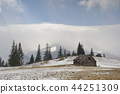 Wooden hut in the mountains 44251309