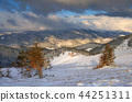 Mountain village in the winter 44251311