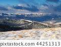 Winter landscape in mountains 44251313