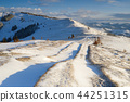 Road in the mountains in winter 44251315