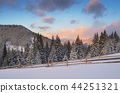 Winter morning in the mountains 44251321