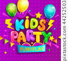 kids, party, banner 44252503
