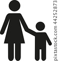 Mother and son icon 44252873
