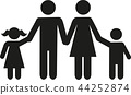 Family icon Parents with children son and daughter 44252874