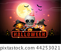 halloween night full moon party fancy sign 44253021