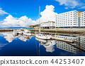 Trondheim pier in Norway 44253407