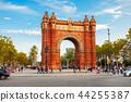 Arc de Triomf in Barcelona 44255387