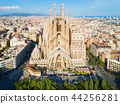 Sagrada Familia aerial view, Barcelona 44256281