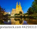 Sagrada Familia cathedral in Barcelona 44256313