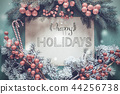 Christmas Garland, Calligraphy Happy Holidays 44256738
