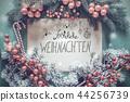 Froehliche Weihnachten Means Merry Christmas 44256739