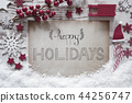 Red Christmas Decoration, Happy Holidays 44256747