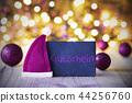 Plate, Santa Hat, Lights, Gutschein Means Voucher 44256760