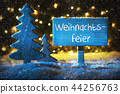 Blue Tree, Weihnachtsfeier Means Christmas Party 44256763