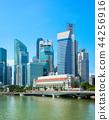 Cityscape Singapore financial district view 44256916