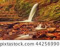 Autumn mountain waterfall 44256990