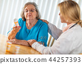 Female Doctor Consults with Senior Woman  44257393