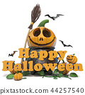 Happy Halloween text 3D 44257540