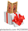 Gift concept, backgammon inside gift box 44258090