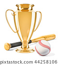 baseball, ball, bat 44258106