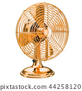 Golden Retro Table Fan, 3D rendering 44258120