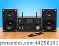 Home Stereo System on the wooden table 44258191