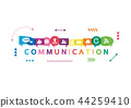 Vector illustration of a communication concept 44259410