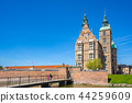 Rosenborg Castle landmark in Copenhagen, Denmark 44259609