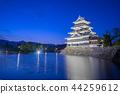 Matsumoto Castle at night in Nagano, Japan 44259612