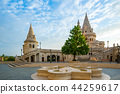 Tower of Fisherman's Bastion in Budapest, Hungary 44259617