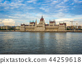 Budapest Parliament Building with Danube River 44259618