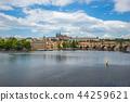 Prague cityscape skyline in Czech Republic 44259621