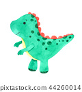 Dinosaur watercolor isolated on white background 44260014