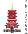 hondo-ji temple, five-storied pagoda, temple 44260406
