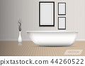 Modern shower bathtub of interior design  44260522