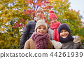 happy family over autumn park background 44261939