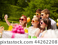 happy kids taking selfie on birthday party 44262208
