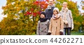 happy family over autumn park background 44262271