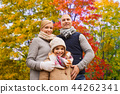 happy family over autumn park background 44262341