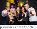 friends at christmas or new year party 44262613