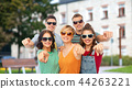 friends in sunglasses pointing at you 44263221