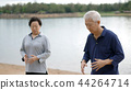 Asian Elderly couple Practice Taichi exercise 44264714
