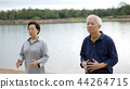 Asian Elderly couple Practice Taichi exercise 44264715